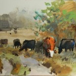 Летний этюд с коровами