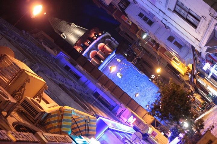 ночной город стамбул галата