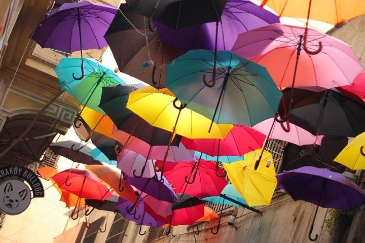 самый красивый стамбул в зонтиках