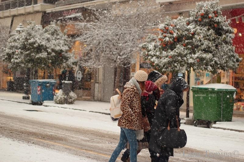 снегопад в салониках