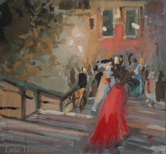 ночь в венеции на мосту аккадемии